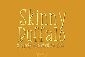 Skinny Buffalo- Handwritten font