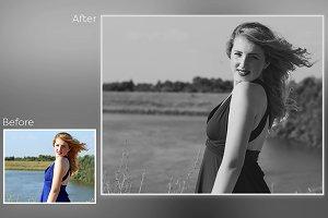 6 Black & White Photoshop Action