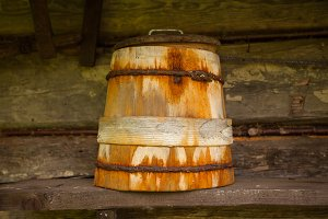 The old barrel is almost rusty