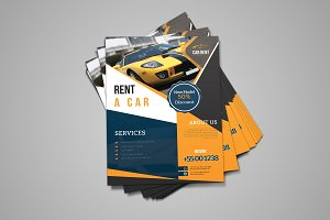 Rent A Car Flyer
