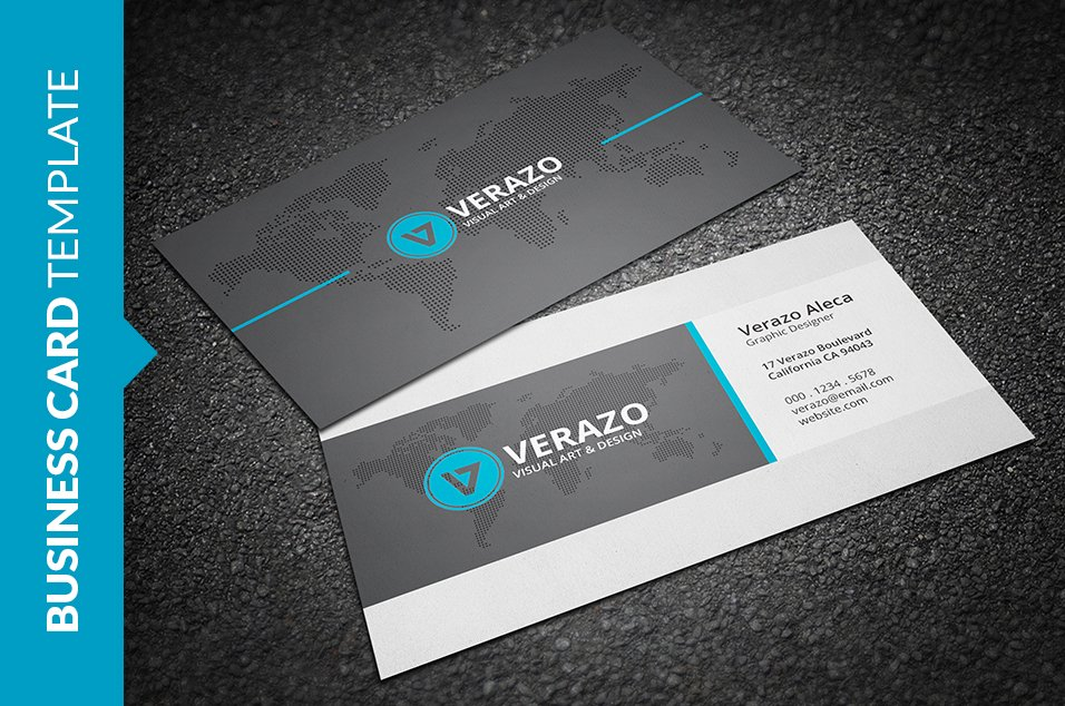 Modern Corporate Business Card ~ Business Card Templates ~ Creative ...