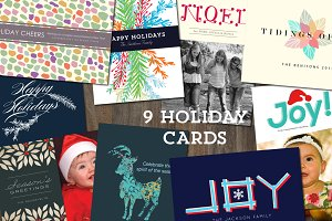 9 Holiday Cards Templates