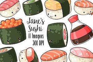 Kawaii Sushi Clipart