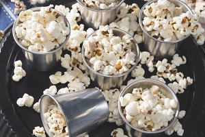 Home made popcorn for a party