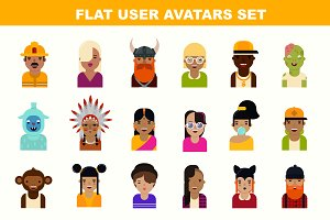 Flat avatars set