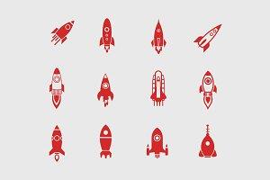 12 Rocket Icons