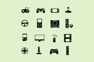 16 Game Console Icons
