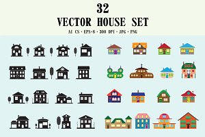 House cartoon set.