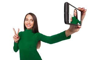 girl  photographs selfie