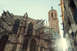 Gothic cathedral in Barcelona