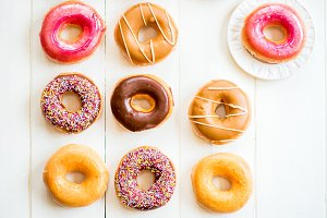 Bright Glazed Doughnuts