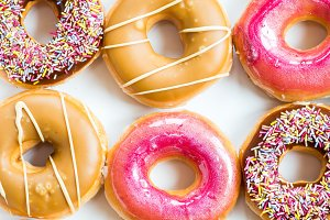 Bright Glazed Doughnuts