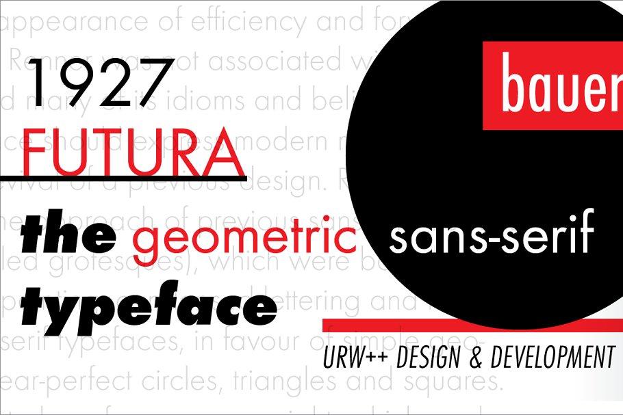 Futura Light ~ Sans Serif Fonts ~ Creative Market