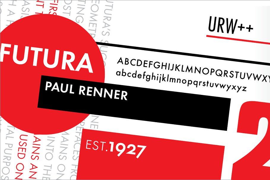Futura Book ~ Sans Serif Fonts ~ Creative Market
