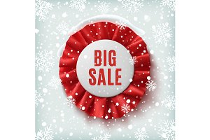 Big sale, realistic red label.