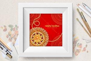 Happy Raksha Bandhan greeting card