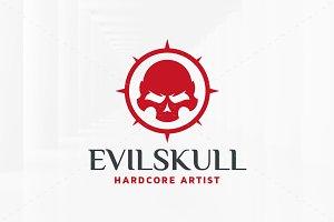 Evil Skull Logo Template