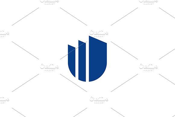 Letter W. Window or Doors. - Logos