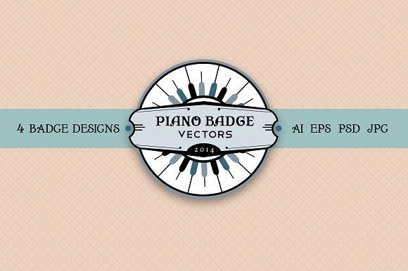 Vintage Piano Badges