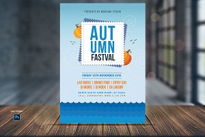 Autumn Festival Flyer Template V6