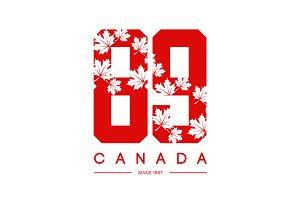 Vector Canada number tee print