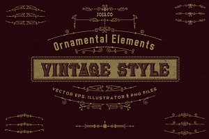 Vintage Ornaments in Modern Style