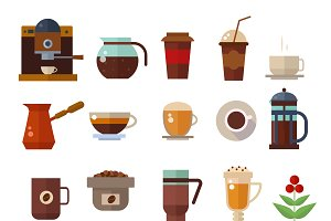 Coffee cup vector icons
