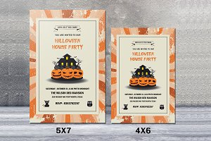 Halloween house party flyer-V392