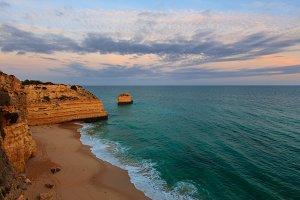 vening Atlantic ocean rocky coast