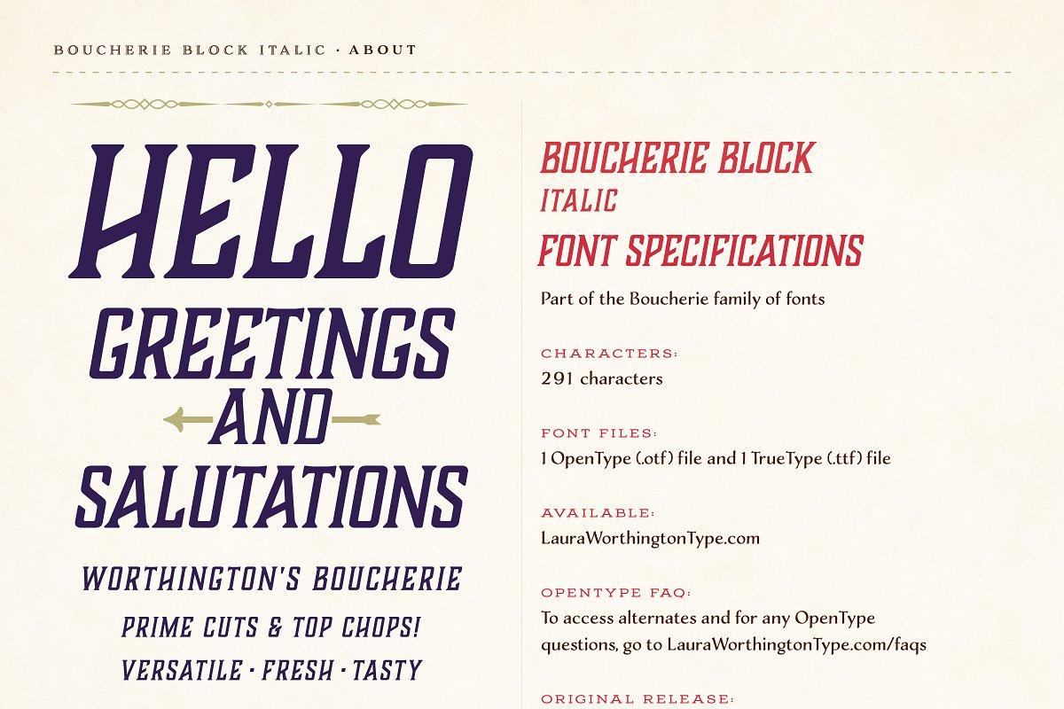 Boucherie Block Italic ~ Serif Fonts ~ Creative Market