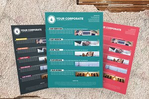Corporate Flyer Templates 3 Colors