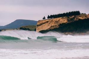 Crashing Waves and Coastline