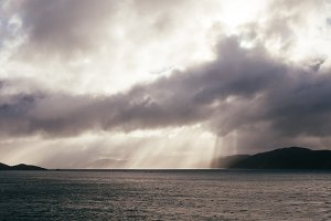 Light Rays and Clouds after Rain