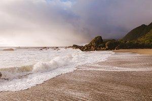 Beautiful Beach after the Rain