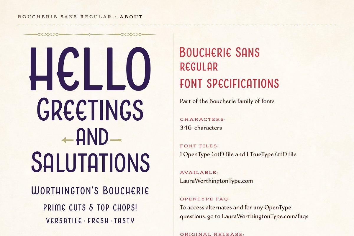 Boucherie Sans Regular ~ Sans Serif Fonts ~ Creative Market