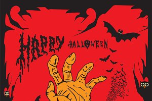 Halloween background human hand