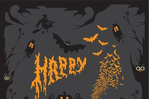 Happy Halloween background black