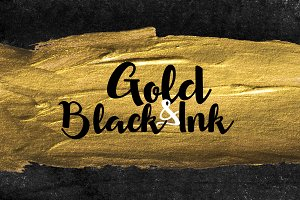 100 Brush Strokes: Gold&Black