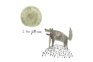 Wolves love full moon
