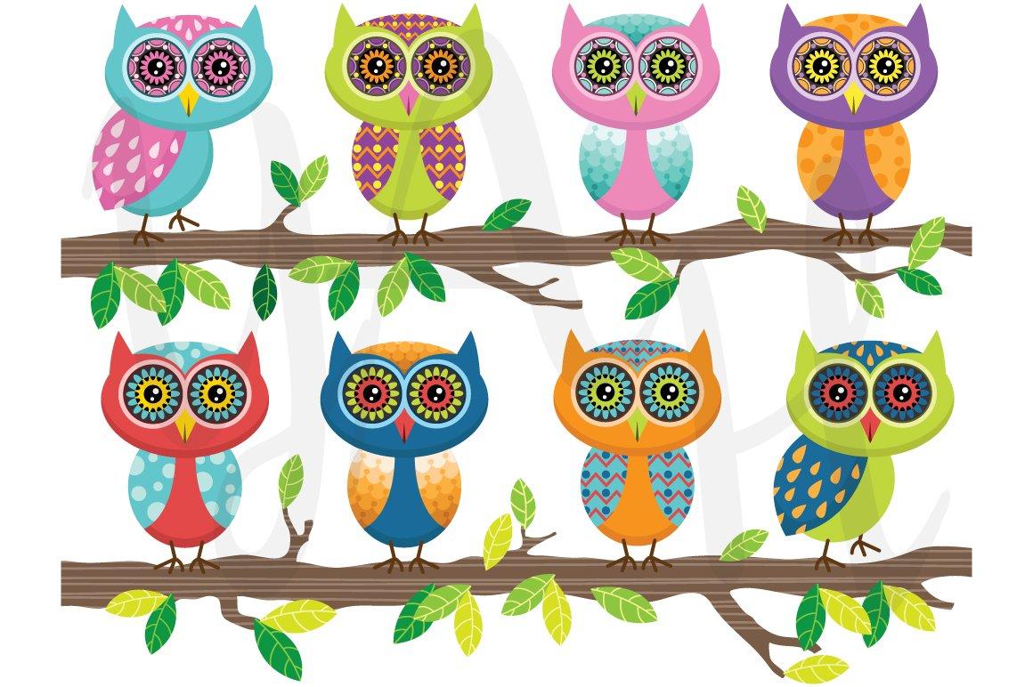 Cute Owl Clip Art ~ Illustrations ~ Creative Market