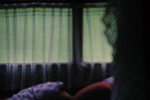 Rural bedroom. Blurry