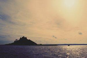 St Michaels Mount at dusk