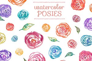 Watercolor Posies