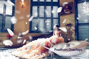 5K Feathers Overlays