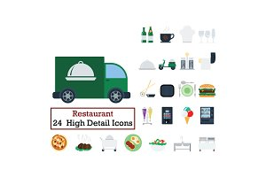 Set of 24 Restaurant icons