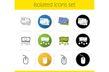 Online banking. 12 icons. Vector