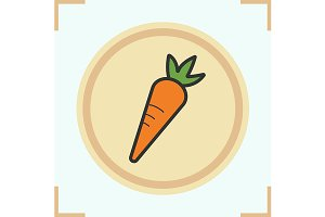 Carrot color icon. Vector