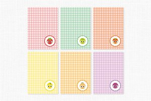 Journal Cards-Cute Fruits