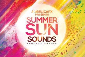 Summer Sun Sounds Flyer Template