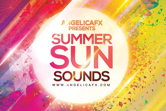 Summer Sun Sounds Flyer Template in Flyer Templates